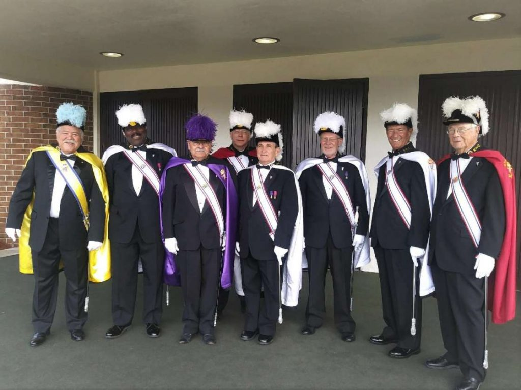 knights of columbus in their regalia